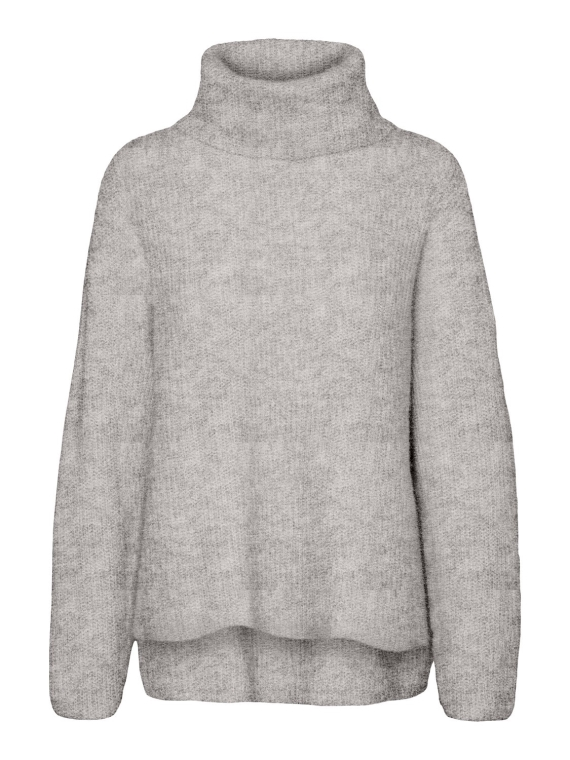 Daisy LS Cowlneck Light Grey Melange