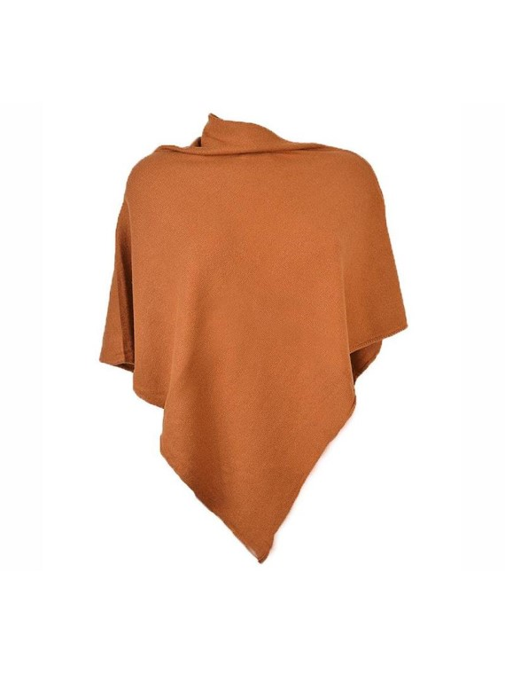 Cashmere Poncho, Rust