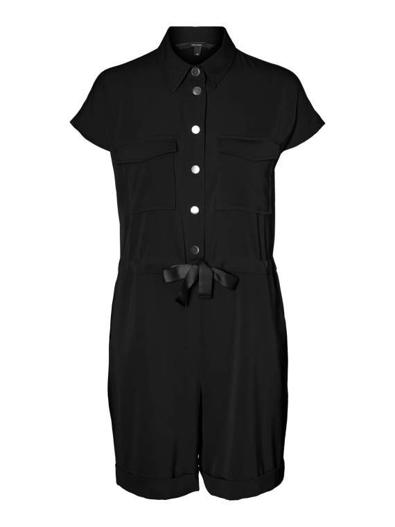 Paula ss Playsuit Black