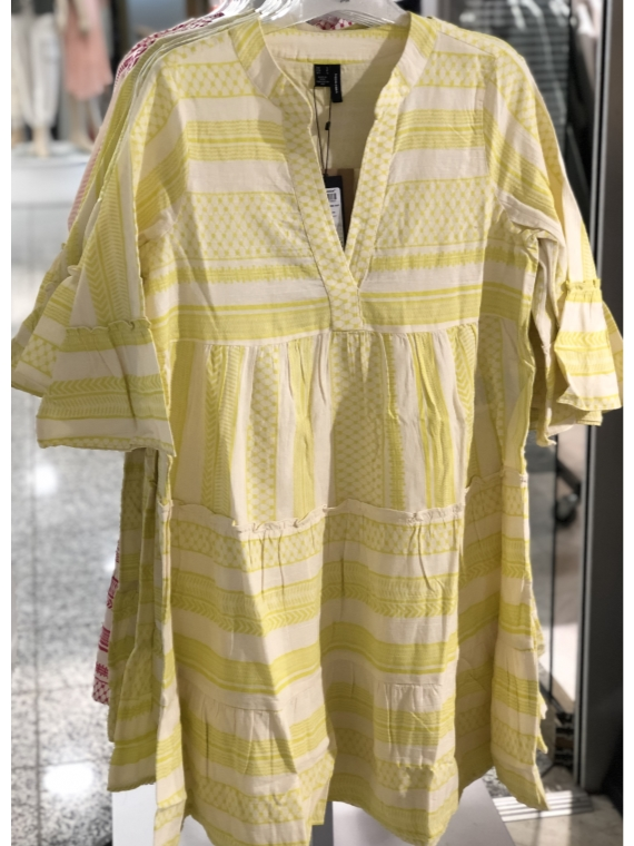 Dicthe 3/4 tunic Lemon