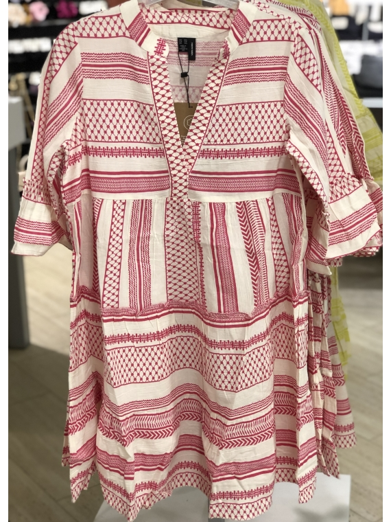 Dicthe 3/4 tunic Pink
