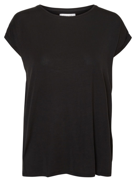 Ava plain ss top Black