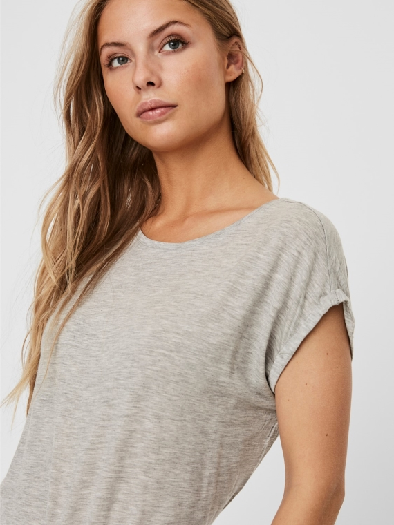 Ava plain ss top Bungee Light grey