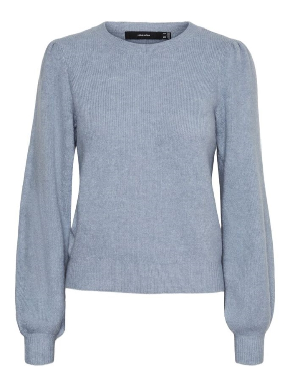 Lefile Puff LS Blouse Blue Fog Melange