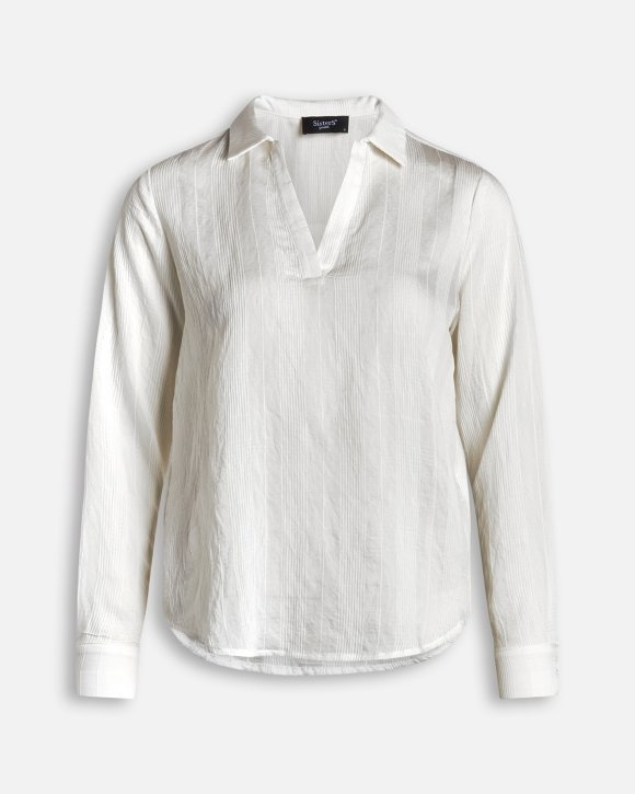 Vally-LS  bluse,white